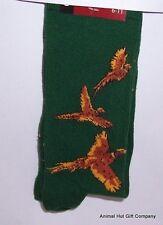 Pheasants on Green Mens/Womens Socks