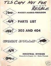 Massey-Ferguson 303 and 404 Tractors Parts Manual