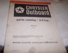 CHRYSLER 1981 3.5hp  Outboards Parts Book