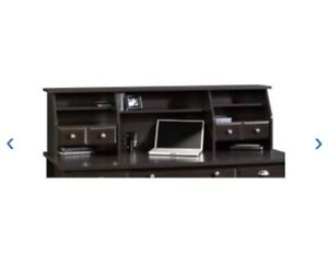 Sauder Shoal Creek Organizer Hutch- Jamocha Wood