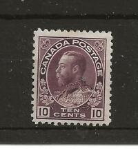 Canada 1911-22 10c brownish purple m/m (SG 210), Cat £100