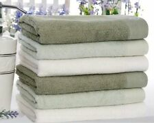 Pure Color Bamboo Fiber Natural Organic Bathroom Towel Hand Towel Family Washer