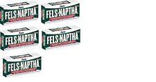 5 BARS Fels-Naptha 04303-01 Heavy-Duty Laundry Bar Soap, 5  oz