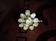 Handmade Natural Uncut Diamond Polki & 925 Sterling Silver Diamond Ring Jewelry