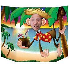 Monkey Foto Stand Up Ritaglio Prop Festa Decor Testa nella giungla Foro Spiaggia Tropicale