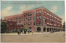 Medea Hotel and Baths in Mt. Clemens MI Postcard 1914