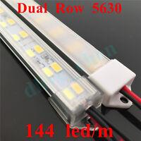 Dual Row 5630 1m 0.5m Led Strips Rigid Bar Al Case Shell Clear Milk Cap 12V #4