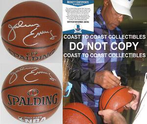 Julius Erving Dr J New Jersey Nets 76ers signed basketball proof COA Beckett BAS