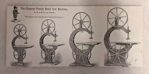 Price list w illus of Clements Band Saw Machines & Bizarre Little Man c1882