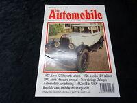 The Automobile Magazine- March 1992- 1927 Alvis 12/50 Sports & 1933 Avon Special