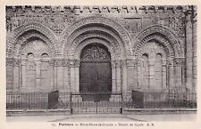 Notre Dame Le Grande Poitiers France Postcard Used