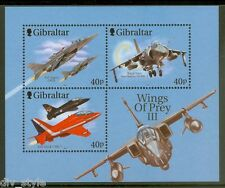 Fighter Planes mnh souvenir sheet 2001 Gibraltar #889c