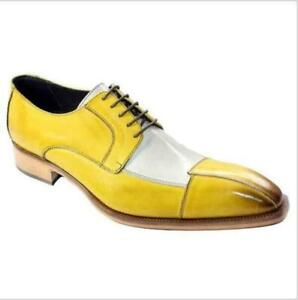 Men's Oxford Slip On Flats Dress Shoes Multicolor Lace Up Formal Casual British