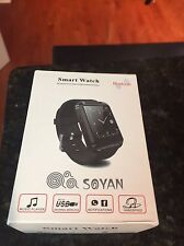 Soyan Smartwatch Touchscreen White Bluetooth Smartphone Apple iPhone Compatible