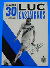 CARTOLINA UFFICIALE INTER 2011/2012 - CASTAIGNOS - PC 10258 - cm.10,5X14,8