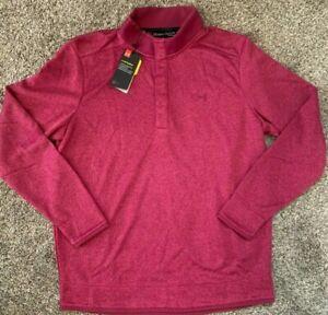 Under Armour Men's UA Storm Golf Sweater Fleece Heather Snap Mock Pullover XL
