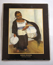 Diego Rivera Nina en Azul y Blanco 8 x 10 1998 Vintage Litho printed USA Print