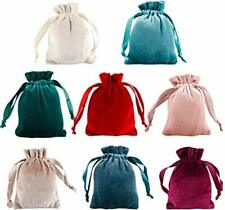 8pcs Soft Jewelry Bags Cute Flannel Luxury Velvet Drawstring Pouches Candy We