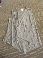 LADIES  CUTE GREY COTTON/VISCOSE SLEEVELESS KNIT BY NOW - SIZE S - AUS 8/10/12