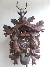 Schöne Große alte Kuckucksuhr Schwarzwalduhr mit Spieluhr 3 Gewichte