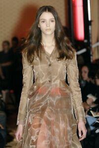 MIU MIU F/W 2007 RUNWAY Camel Nylon Crinoline Mesh Jacket IT40/US6 NWT