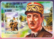 WWII 1944 Liberation of Paris CHARLES DE GAULLE / French Resistance Stamp Sheet