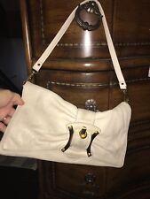 b makowsky Ivory Cream Soft Leather handbag  Medium Clutch ,Xlarge Wristlet