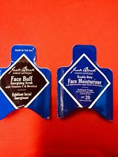 2 Jack Black Samples - Double Duty Moisturizer and Face Buff Scrub NEW