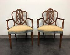 Mahogany Hepplewhite Prince of Wales Dining Arm Chairs - Pair