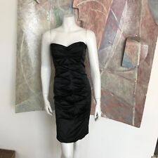 Nicole Miller Collection Black Cocktail Dress RT SZ 8 Sleeveless Short LBD Sexy