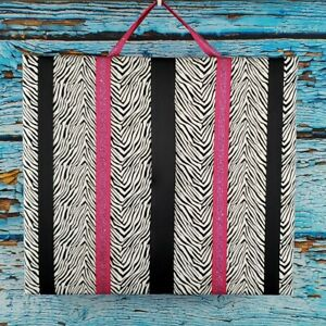 "Bow Holder Board Zebra Pink And Black Room Decor 16 3/4""x 14 3/4"""