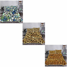 Leopard Grain Blanket Air Conditioning With Bedding Pillowcases Soft Set 3 Pack