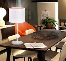 Table lamp E27 white orange office lounge 1flg textile lamp modern light