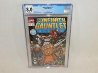 Infinity Gauntlet #1 Marvel Comics Thanos Jim Starlin July 1991 CGC 8.0 White