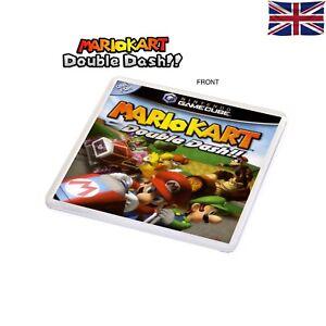 Mario Kart Double Dash Game Inspired Plastic Coaster NGC Game Box Art Themed