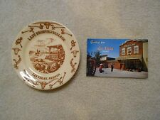 VEGAS LAST FRONTIER VILLAGE CHINA PLATE PHOTO POSTCARD NEVADA  WALLACE EARLY OLD