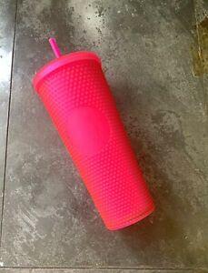 Starbucks Fall 2021 Neon Pink Cup Studded Tumbler
