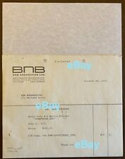 Mark Lindsay 1971 Movie Commission Invoice AUTOGRAPHED to YOU