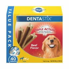 Pedigree 10113523 Dentastix Large Dog Treats Beef 40 Count
