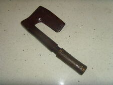 vintage french stamped wrought iron side axe , coopers ?