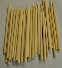 "CARAMEL CANDY APPLE / CORN DOG STICKS 200ct- Pointed Wood Skewers Dowels 6""x1/4"""