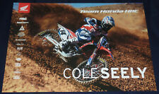 COLE SEELY SIGNED AUTO'D 13X19 PHOTO POSTER AMA SUPERCROSS HONDA HRC FLY RACING