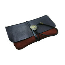 Durable Portable Leather Smoking Pipe Storage Case Roll Bag Tobacco Carry Pouch
