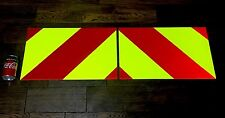 STICKERS (1 PAIR) CHAPTER 8 CHEVRONS SAFETY FOR HIGHWAY & MOTORWAY MAINTENANCE