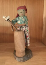 Old / Vintage Doll W/Churn From Haiti - Wood, Fabric- Hand Made