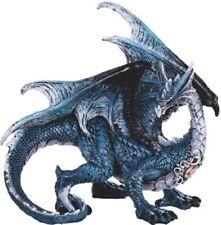"BLUE STANDING DRAGON      Statue   H8"" X L12"""