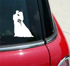 COUPLE GETTING MARRIED WEDDING GRAPHIC DECAL STICKER ART CAR WALL DECOR