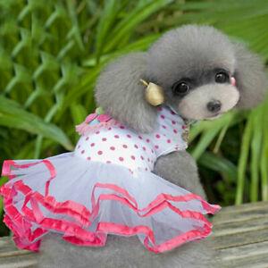 Pet Puppy Small Dog Lace Princess Tutu Dress Skirt Cat Clothes Apparel Costume