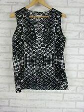 CALVIN KLEIN Top/Blouse Sz S, 10 Black, Gray Print n