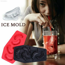 7FC7 Silicone Ice Mould Vampire Teeth Cocktails 3D Ice Tray Mold Ice Cube Mold